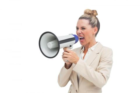 angry-businesswoman-using-megaphone